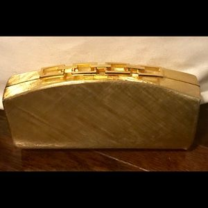 Vintage Rodo Gold Metal Clutch Purse Made in Italy